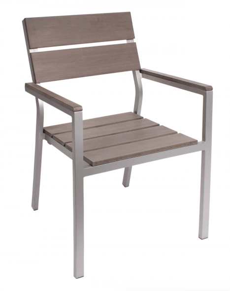 BFM Seaside Gray Teak chair