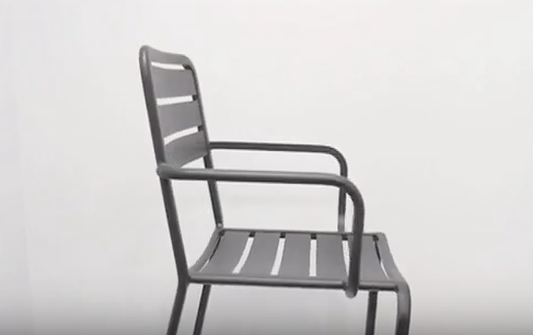 Vista Outdoor Aluminum Side and Arm Chair by BFM Seating