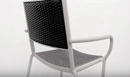 Cocoa Beach Outdoor Restaurant Chair by BFM