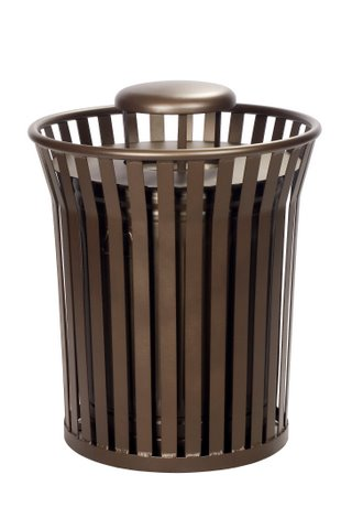commercial outdoor steel trash can