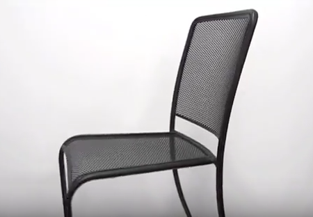 Chesapeake & Verona Metal Mesh Outdoor Chairs by BFM