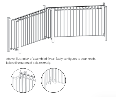 portable fencing illustration