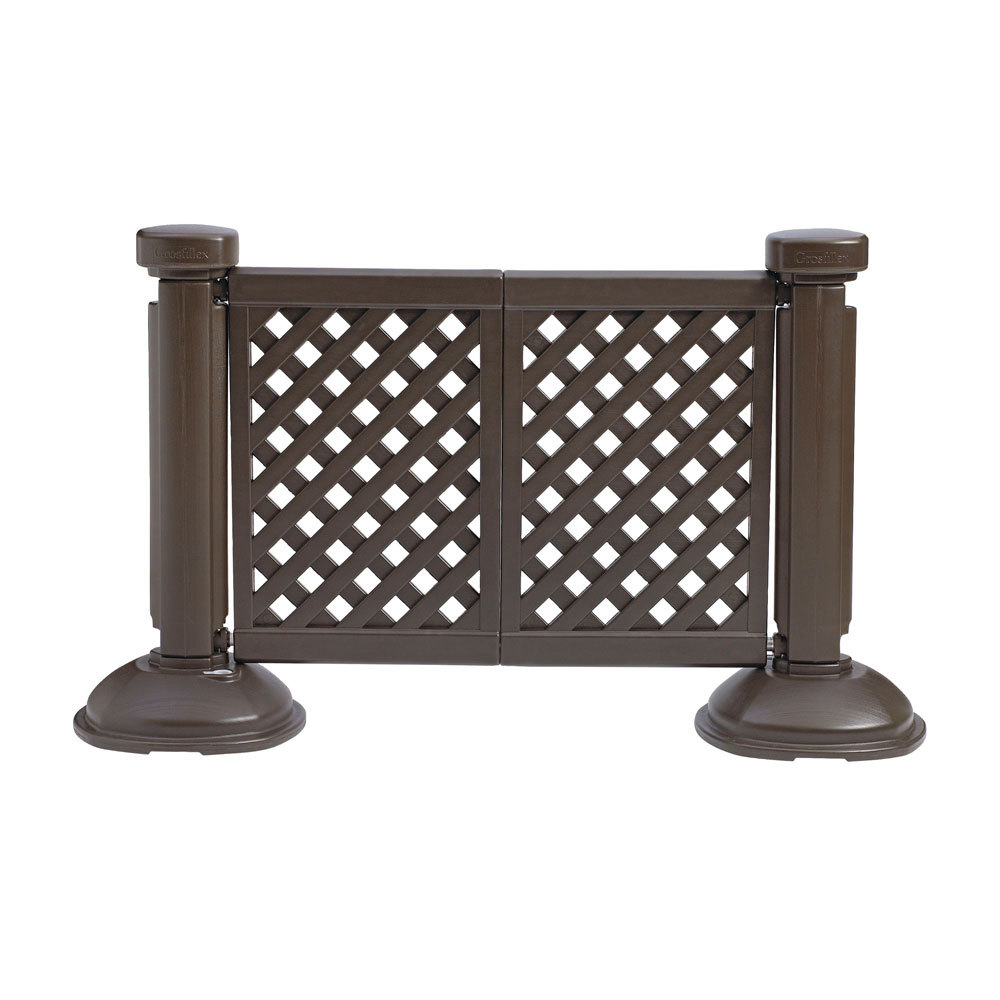 grosfillex 2 panel fence brown