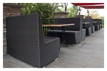 outdoor booth synthetic wicker