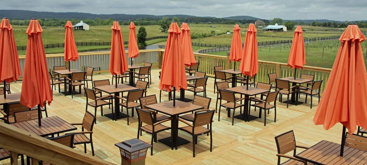 synthetic teak outdoor restaurant furniture perfect for deck expansion. Black Bedroom Furniture Sets. Home Design Ideas