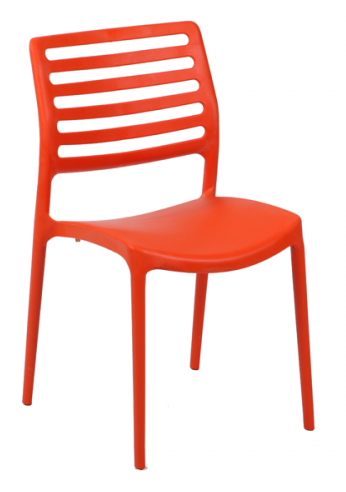 Orange bella side chair