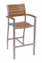 BFM Largo Outdoor Synthetic Teak Barstool