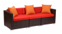 Commercial outdoor wicker sofa Aruba