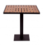 BFM Longport Synthetic Teak Outdoor Table with Margate Base