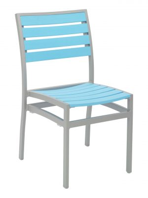 Florida Seating Synthetic Teak Restaurant Side Chair