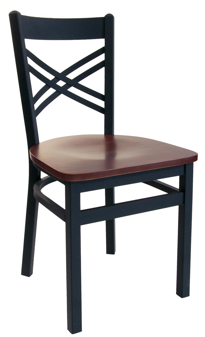 BFM Akrin Cross Back Indoor Restaurant Metal Chair