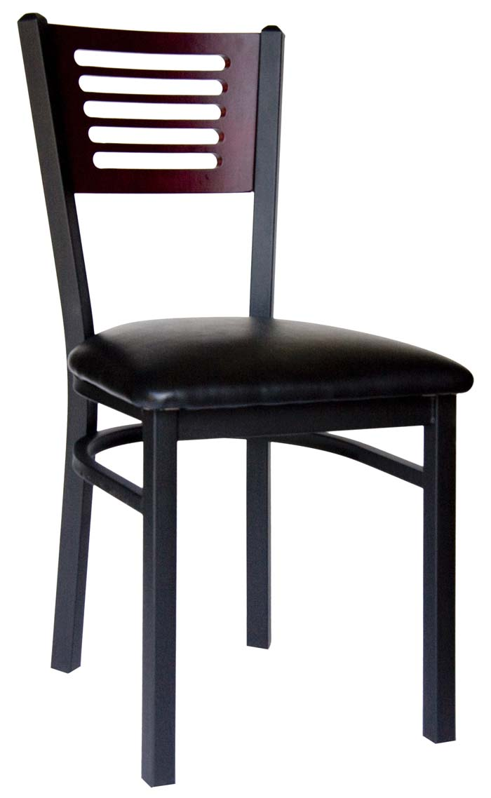 BFM Espy Slotted Wood Back Commercial Restaurant Chair