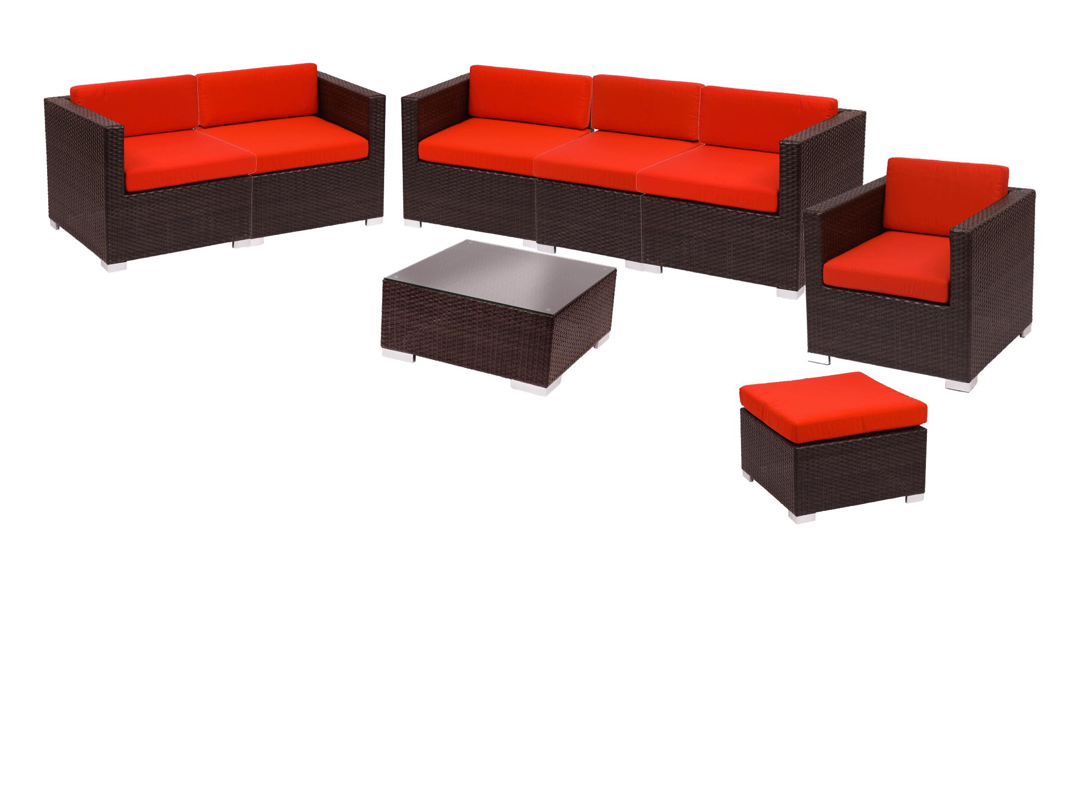 Bon BFM Aruba 8 Piece Synthetic Wicker Sofa Set W/Cushions