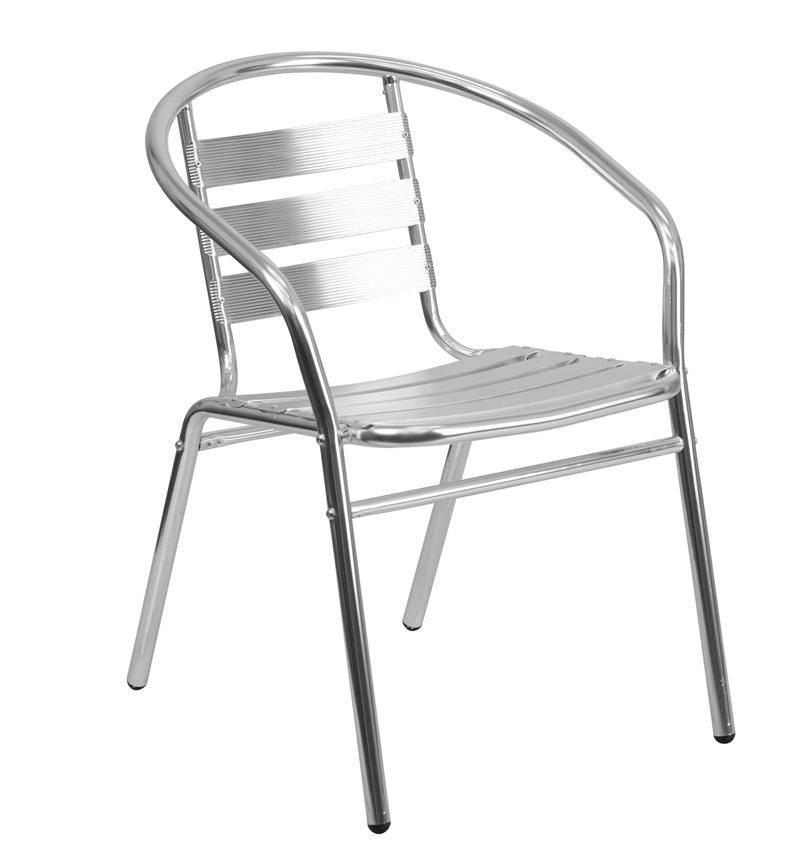 FF-Aluminum Slat Back Indoor-Outdoor Restaurant Chair