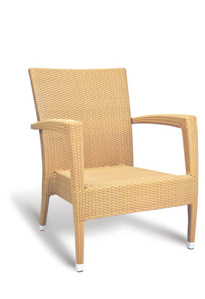 Asbury Lounge Chair Resin Natural By GAR Products