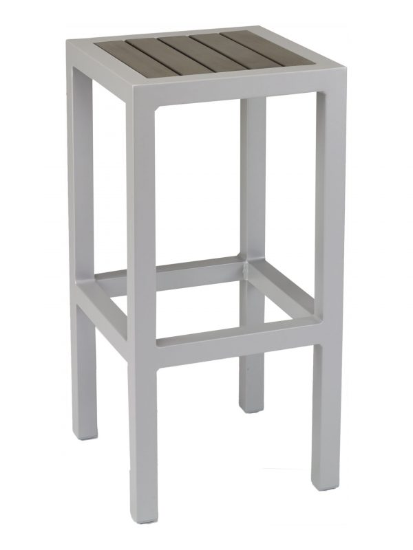 Florida Seating Backless Synthetic Teak Restaurant Barstool