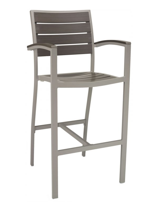 Florida Seating Synthetic Teak Restaurant Barstool