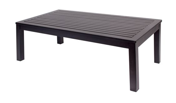 Belmar Aluminum Outdoor Commercial Coffee Table Black - Black aluminum outdoor coffee table
