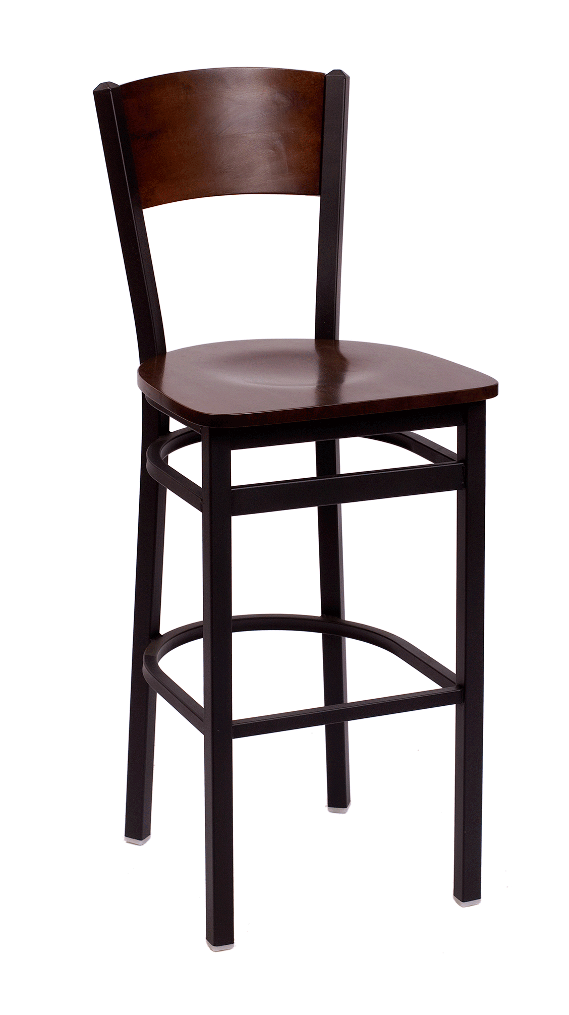 BFM Dale Solid Wood Back, Metal Frame Indoor Restaurant Barstool