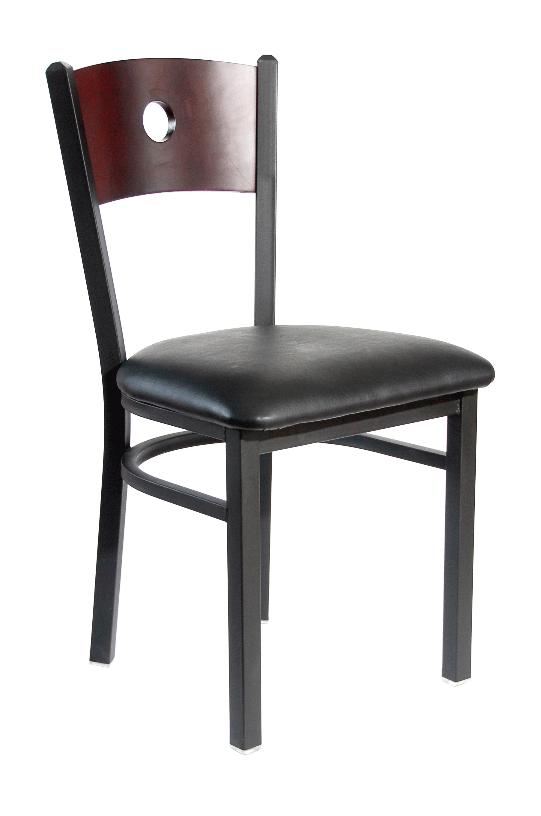 BFM Darby Circle Wood Back Indoor Restaurant Chair