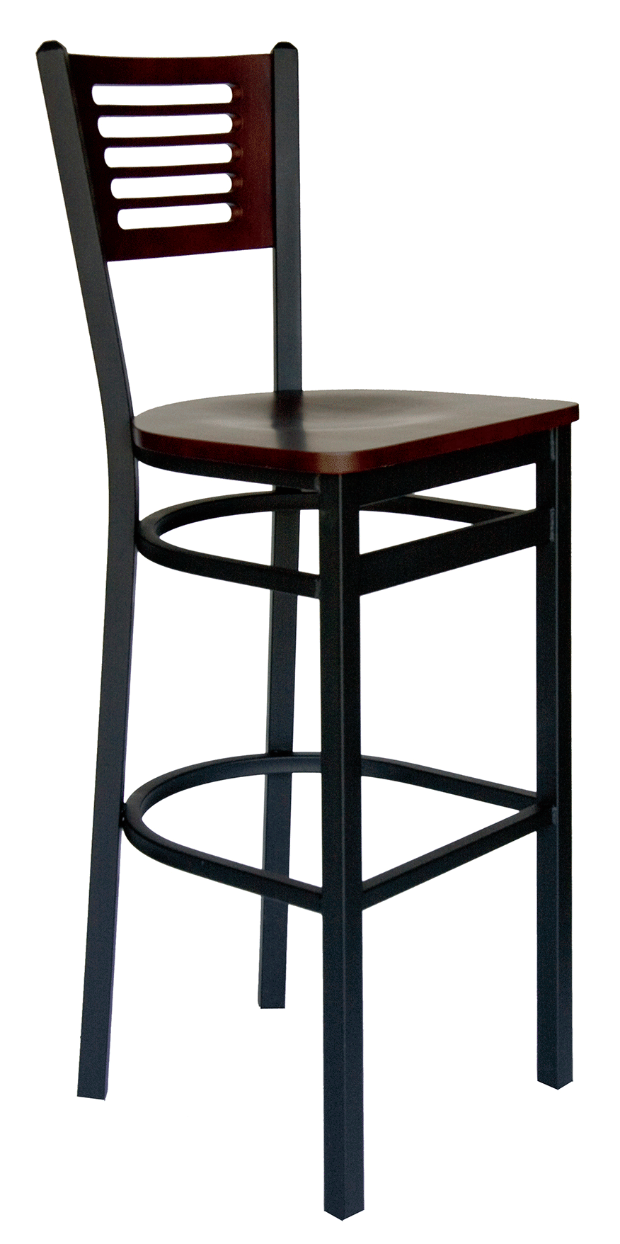BFM Espy Slotted Wood Back Commercial Restaurant Barstool