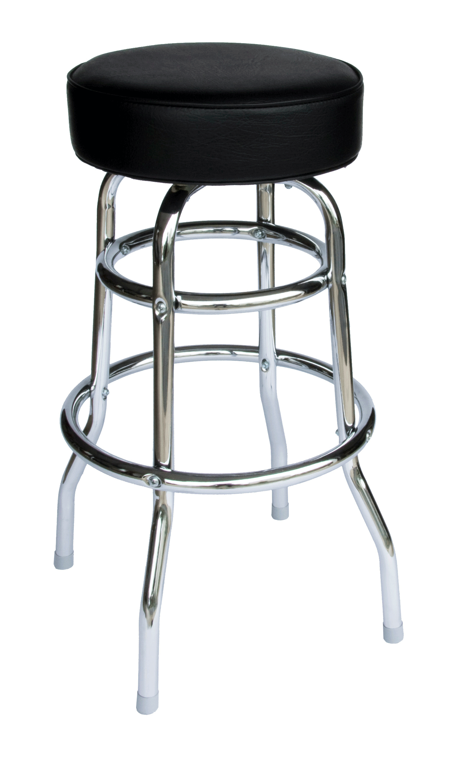 BFM Galena Indoor Restaurant Double Ring Chrome Barstool