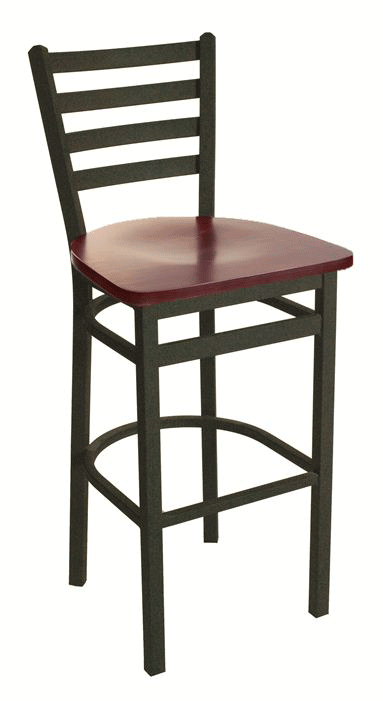 BFM Lima Ladder Back Indoor Restaurant Barstool