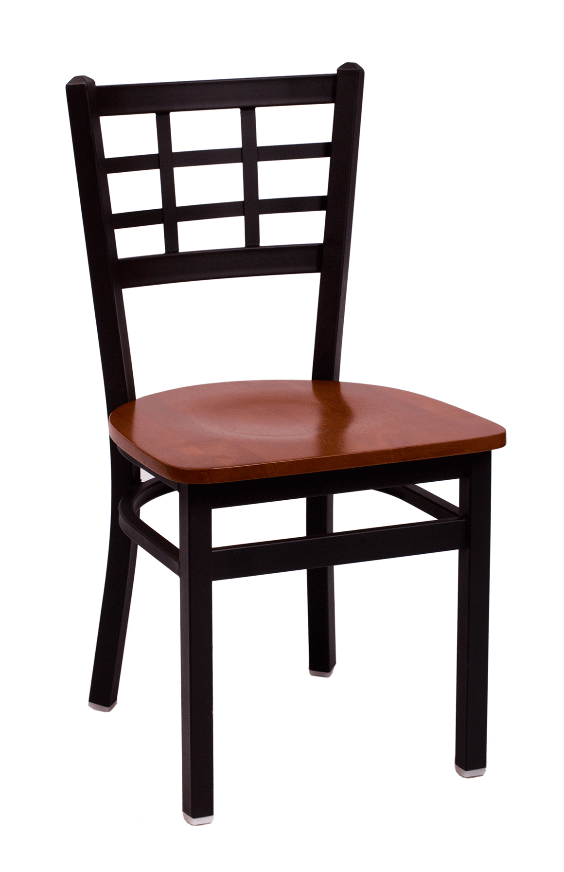 BFM Marietta Window Pane Indoor Restaurant Metal Chair