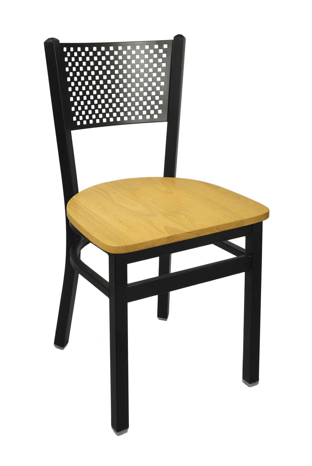 BFM Polk Perforated Back Metal Restaurant Chair
