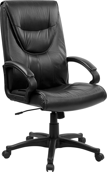 FF Executive Swivel Black Leather Office Chair