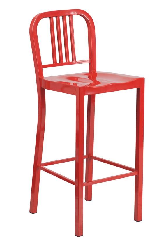 Indoor Barstools Ff 30 Quot Red Metal Indoor Outdoor Bar Stool