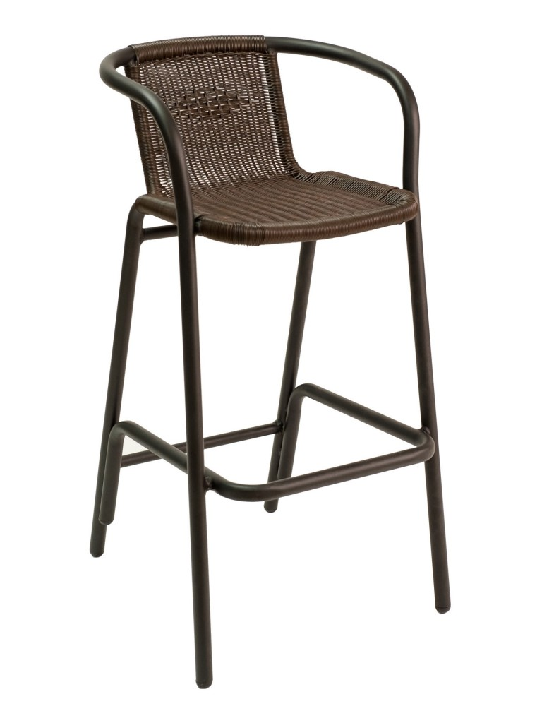 Florida Seating BW-51 Restaurant Arm Barstool Black / Espresso
