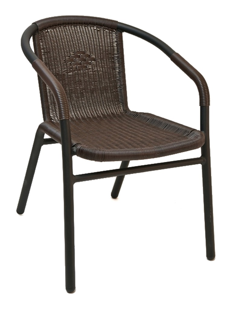 Florida Seating W-21 Restaurant Armchair Black / Espresso