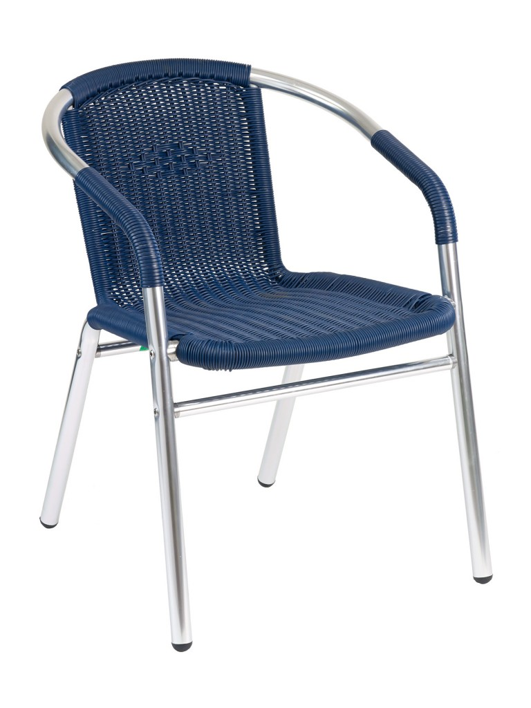 Florida Seating W-21 Restaurant Armchair Silver / Blue