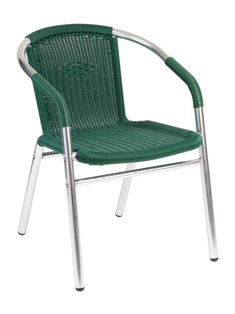 Florida Seating W-21 Restaurant Armchair Silver / Green