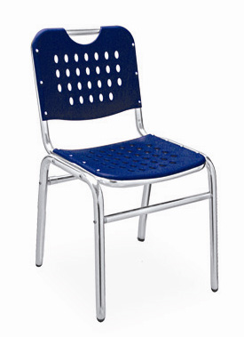 Florida Seating Restaurant Side Chair Aluminum / Blue
