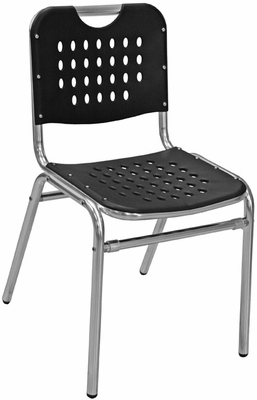 Florida Seating Restaurant Side Chair Aluminum / Black