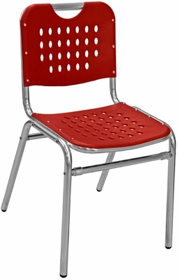 Florida Seating Restaurant Side Chair Aluminum / Red