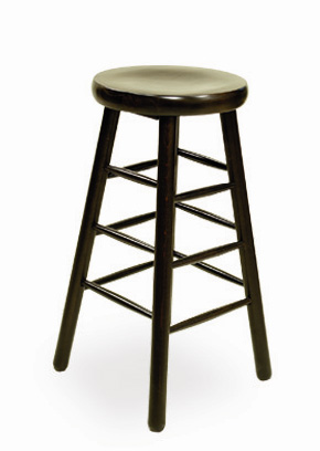 Backless Wood Barstool