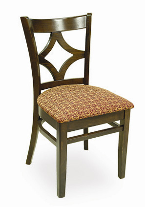 Diamond Back Wood Restaurant Chair