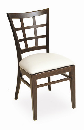 Pane Back Wooden Restaurant Chair