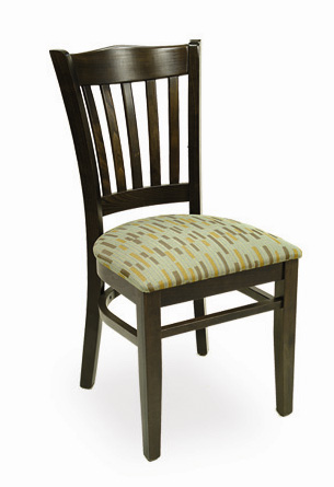 Slat-Back Wooden Restaurant Chair