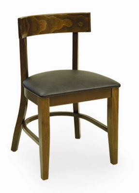 Rich Grain Wooden Frame Restaurant Chair