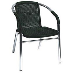 Florida Seating W-21 Restaurant Armchair Silver / Black