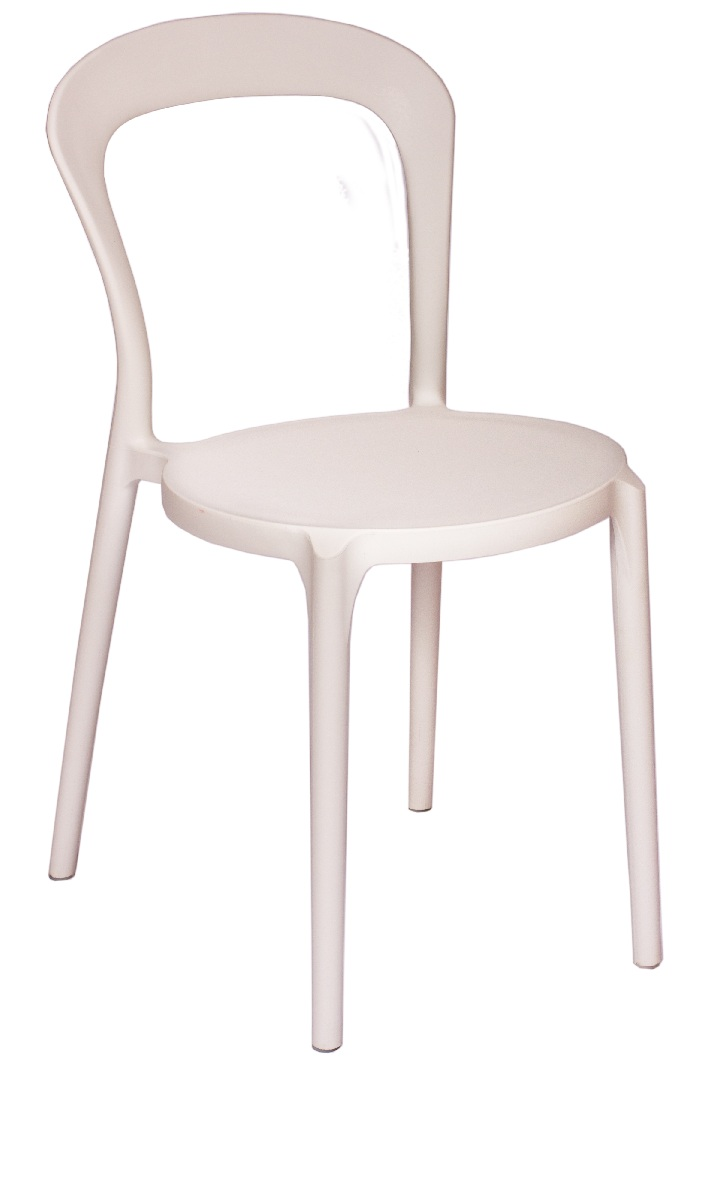 BFM Malibu Outdoor Restaurant Side Chair-White
