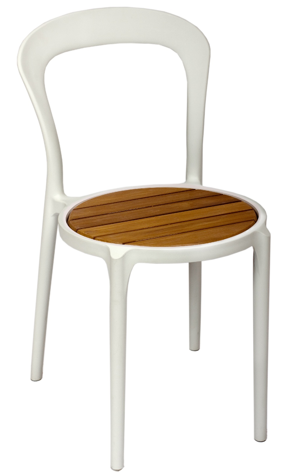 BFM Malibu Synthetic Teak Chair- White