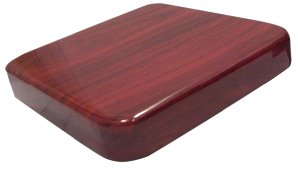 BFM 24 x 24 Square Mahogany Resin Table Top