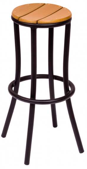BFM Norden Synthetic Teak Outdoor Restaurant Side Chair