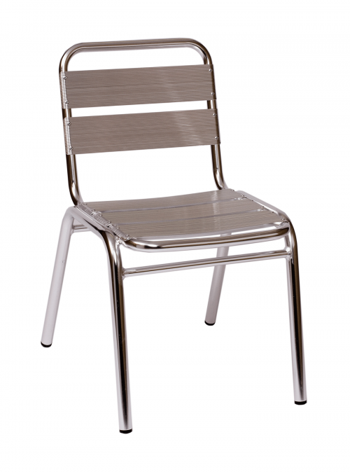 BFM Parma Side Chair / Anodized aluminum frame