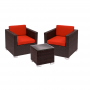 BFM Aruba 3-Piece Armchair and End Table Set